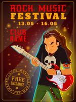 Cartaz do festival de música rock vetor
