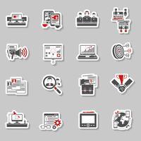 Coleção de autocolantes conceito freelance