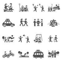 Conjunto de ícones de passeio