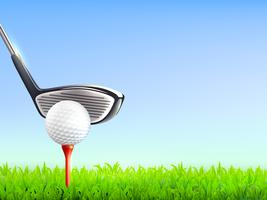 Fundo realista de golfe vetor