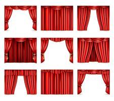 Conjunto de ícones de cortina de teatro
