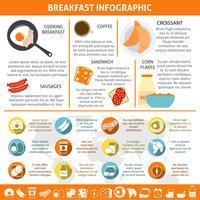Café da manhã plana cor infográfico