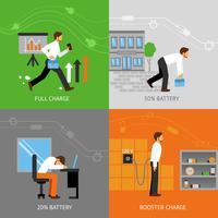 Conceito de Design de energia do empresário