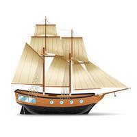 Ilustração de navio à vela vetor