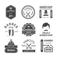 Emblemas de barbearia vetor