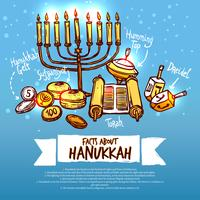 Conjunto de infográficos de Hanukkah vetor