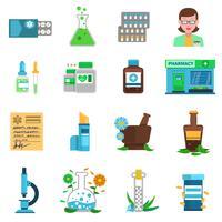 Conjunto de ícones de farmácia