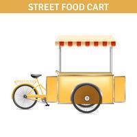 Ilustração de carrinho de comida de rua vetor