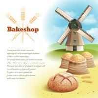 Ilustração de fundo de pão vetor