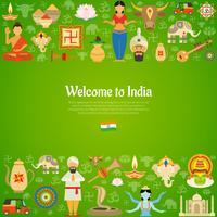 Ilustração de fundo da Índia