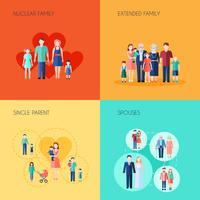 Conjunto De Família De Design 2x2
