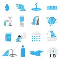 Conjunto de ícones de água vetor