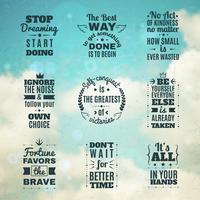 Conjunto de citações de motivação atemporal