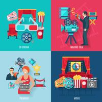Filme fazendo Icons Set