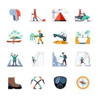 Conjunto de ícones de expedição vetor