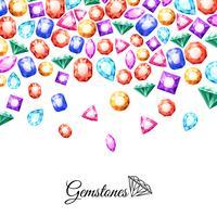 Ilustração de fundo de pedras preciosas