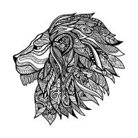 Cabeça de Leão Decorativa vetor