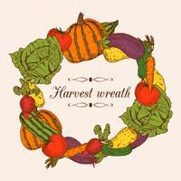 Quadro de legumes coloridos vetor