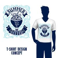 Letras de design de t-shirt vetor