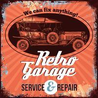 Design de serviço de carro antigo vetor