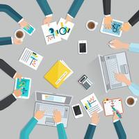 Reunião de negócios plana vetor