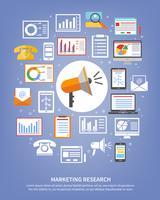 Ícones de pesquisa de marketing vetor