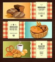 Conjunto de Banners horizontais de casa de pão vetor