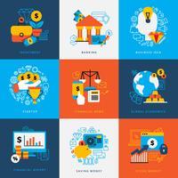 Conjunto de conceito de Design de finanças