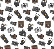 Padrão sem emenda de engrenagem de fotografia vetor