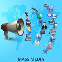 Poster de mídia de massa vetor