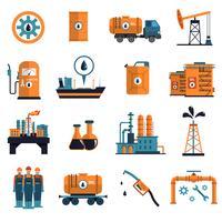 Conjunto de ícones de óleo