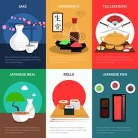 conjunto de mini pôster de sushi