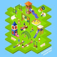 Cartaz do parque do campo de jogos vetor