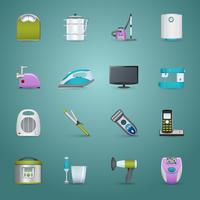 Conjunto de ícones de eletrodomésticos vetor