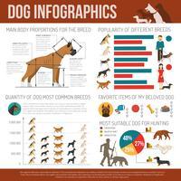 Conjunto de infográficos de cão vetor