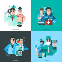 Doutor personagem 2x2 imagens vetor
