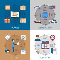 Conjunto de ícones de conceito de correio