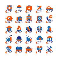 Conjunto de ícones de serviço de seguros