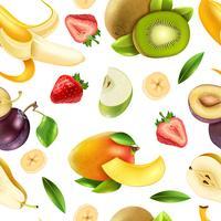 Padrão sem emenda colorido de frutas bagas