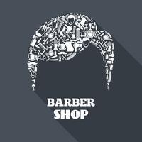 Conceito de barbearia vetor