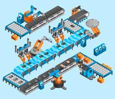 Conceito isométrico de robô industrial