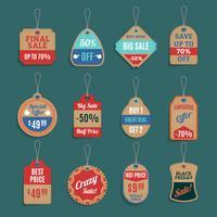 Conjunto de etiquetas de venda vetor