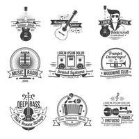 Conjunto de etiquetas de música