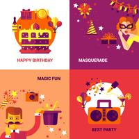 Conjunto de conceito de Design de festa