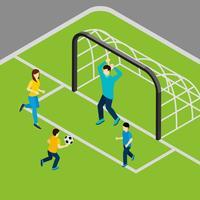 Jogando futebol ilustração vetor