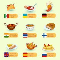 Conjunto Mundial de Alimentos vetor