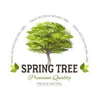 Logotipo de tipografia de árvore vetor