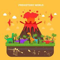 Ilustração do conceito de dinossauros vetor
