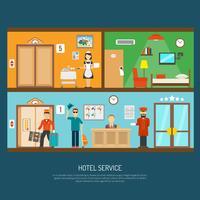 Ilustração do serviço de hotel
