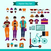 conjunto de menino hipster